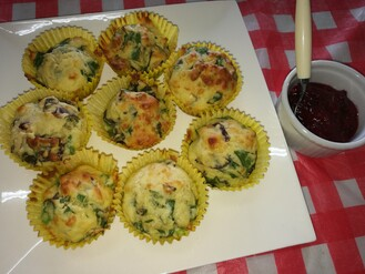 Silverbeet & Cheese Muffins